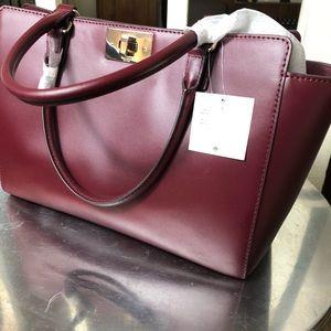 KATE ♠️ SPADE NWT Burgundy handbag